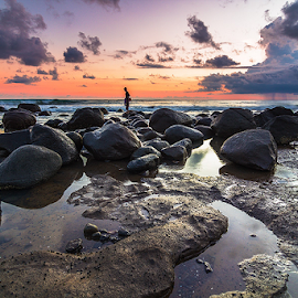 Hi, who's over there? by Budi Astawa - Landscapes Travel ( yeh leh, bali, pekutatan, jembrana, beach )