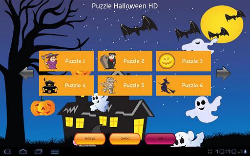 Puzzle Halloween Lite HD Tab