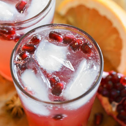 Pink Grapefruit and Pomegranate Soda