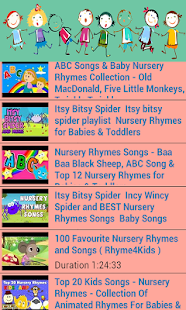 Nursery Rhymes Video Cute - screenshot