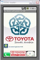 Screenshot of ALJ Toyota Android Application