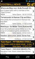 Screenshot of Pittsburgh Football News