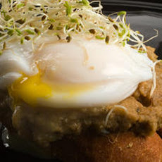 Red Lentil Pâté Bruschetta with Poached Eggs Recipe