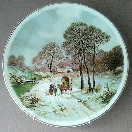 Winter journey by Lyz Amer - Artistic Objects Cups, Plates & Utensils ( plate )