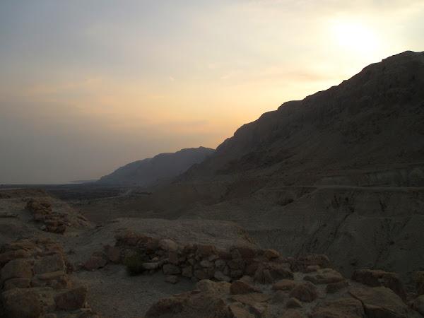 Sunset over Qumran