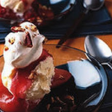 Cranberry Poached Pear Splits