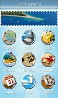 Screenshot of Central Dalmatia travel guide