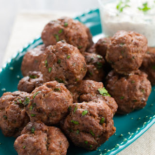 Snappy Cocktail Meatballs with Creamy Mustard Sauce