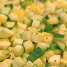 Zucchini and Yellow Squash with Mustard Seeds