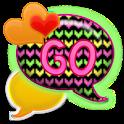 GO SMS - Dazzled Hearts 2 icon