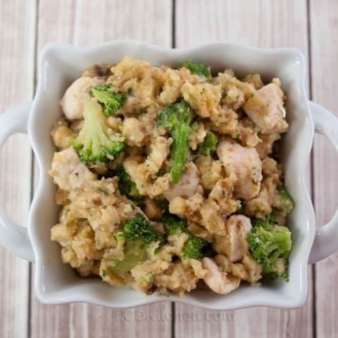 Slow Cooker Chicken Stuffing Casserole With Broccoli