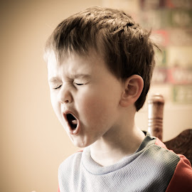 A boy singing by Jon Conyers - Babies & Children Children Candids ( child, singing, thomas the train, sing, toddler, boy )