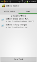 Screenshot of Battery Tasker