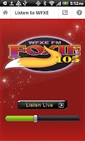 Screenshot of WFXE-FM