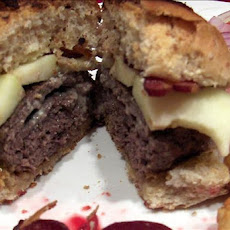 Stuffed Blue-cheese Burgers With Apple and Bacon
