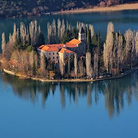 Visovac Monastery - Sibenik,Croatia by Jerko Čačić - Landscapes Waterscapes