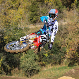 Laying it Down by Kenton Knutson - Sports & Fitness Motorsports ( motocross, jumping, motorcycle, mx, whip, dirt )