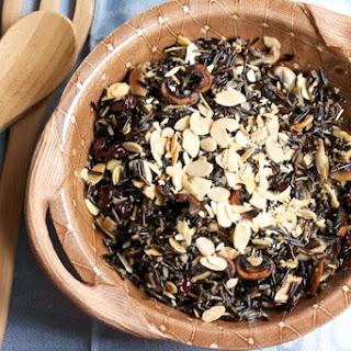 Baked Wild Rice Mushrooms Almonds Recipes