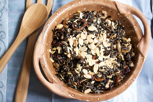 Wild Rice with Crispy Mushrooms, Cherries, and Toasted Almonds Recipe ...