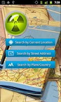Screenshot of Nuclear Site Locator