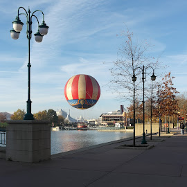board walk by Vicki Deacon - Novices Only Street & Candid ( ride, baloon, paris, november, disney )
