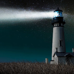 yaquina head by Kam Mccallister - Landscapes Starscapes (  )