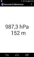 Screenshot of Altimeter & Barometer