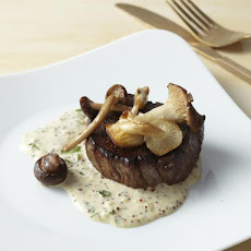 Filet Mignon with Mustard Cream and Wild Mushrooms