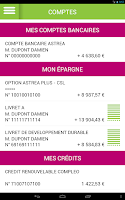 Screenshot of Groupama Banque Mobile