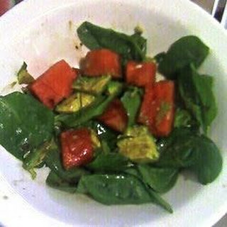 Avocado Watermelon Spinach Salad