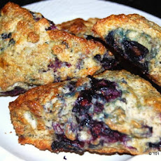 Whole Wheat Blueberry Buttermilk Scones