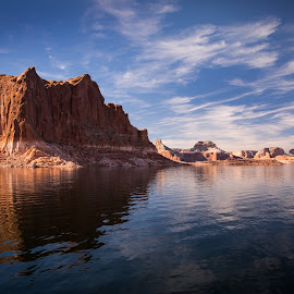Lake Powell by Gannon McGhee - Landscapes Waterscapes ( clouds, utah, page, arizona, powell, rock, lake )