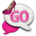 GO SMS - Pink Glitter Heels icon