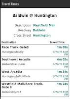 Screenshot of Arcadia Traffic
