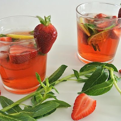 Romantic and Somewhat Sensual Rosé Sangria