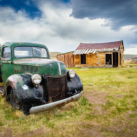 All in a Days Work by Paul Brady - Buildings & Architecture Decaying & Abandoned ( ranch, pickup, truck, shack, ghost town, bodie, colifornia, abandoned )