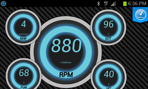 Digi-Gauges (OBD 2 & Car) - screenshot