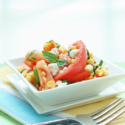 Fresh Corn & Tomato Salad w/ Goat Cheese