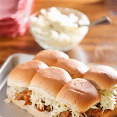 BBQ Eggplant Sliders with Caesar Coleslaw
