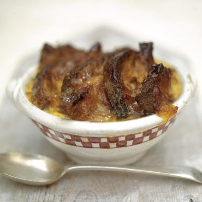Good Old Bread & Butter Pudding With A Marmalade Glaze & Cinnamon & Orange Butter