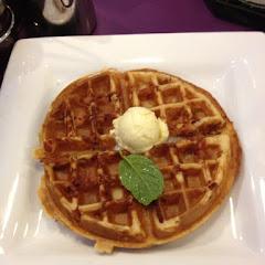 Gluten free bacon Belgian waffle