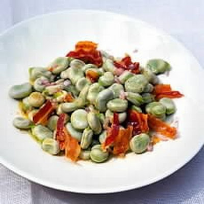 Broad Bean Salad with Pancetta and Sherry Vinegar