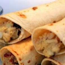 Baked Chicken Bacon Ranch Taquitos