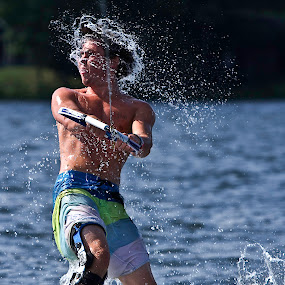 by Jeannette Thalmann-Bendeth - Sports & Fitness Watersports ( water, wakeboard, canada, lake, ben )