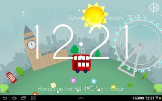 Screenshot of Motion Clock: London