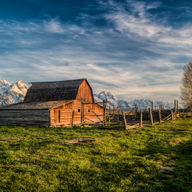 Mormon Row, Grand Teton national park, Wyoming,USA by Benoit Beauchamp - Buildings & Architecture Public & Historical (  )