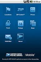 Screenshot of USPS MOBILE®
