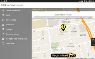 Screenshot of MiTaxi (Pasajero)