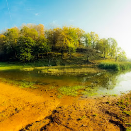 The Lake by Costin Mugurel - Landscapes Waterscapes ( water, nature, autumn, lake, landscape )