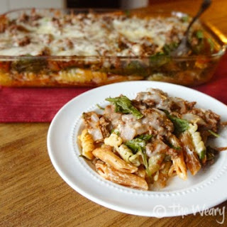 Layered Casserole with Ground Beef and Pasta